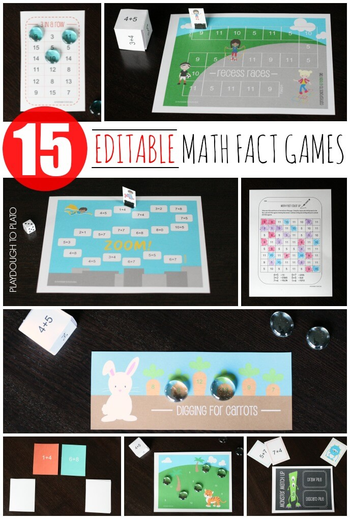 Free Math Concentration Game - Playdough To Plato
