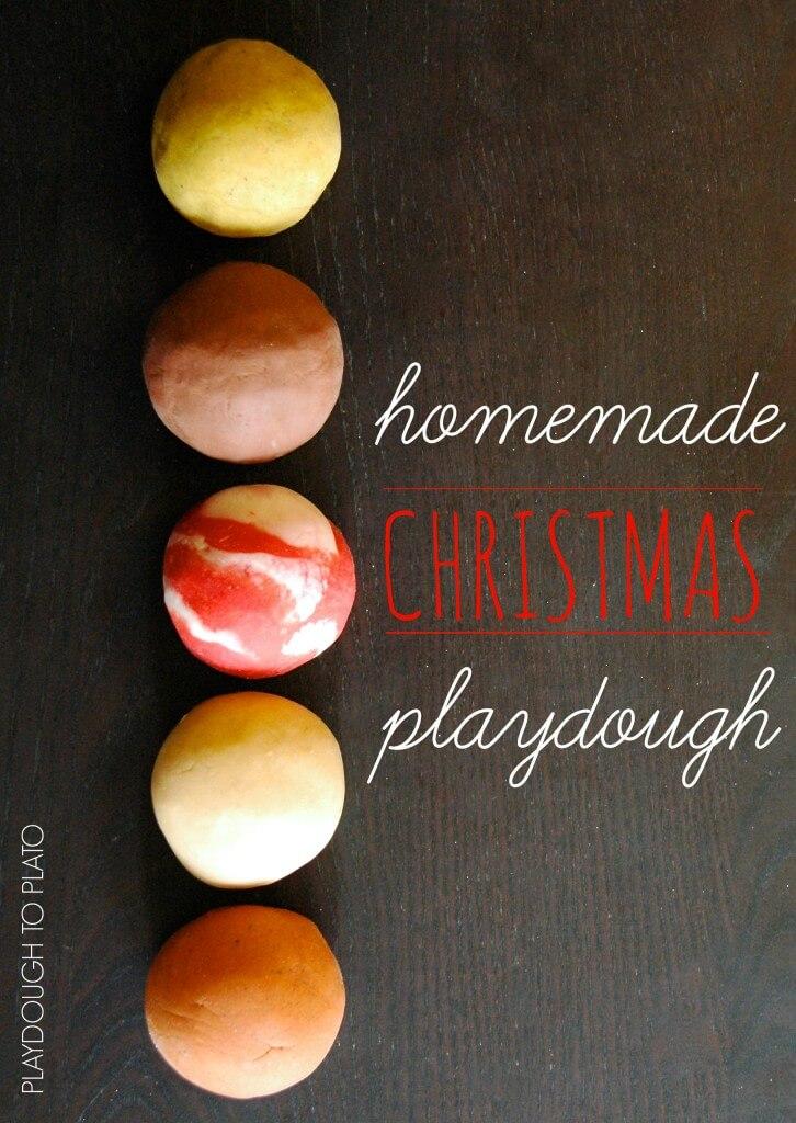 Super squishy homemade playdough for Christmas.