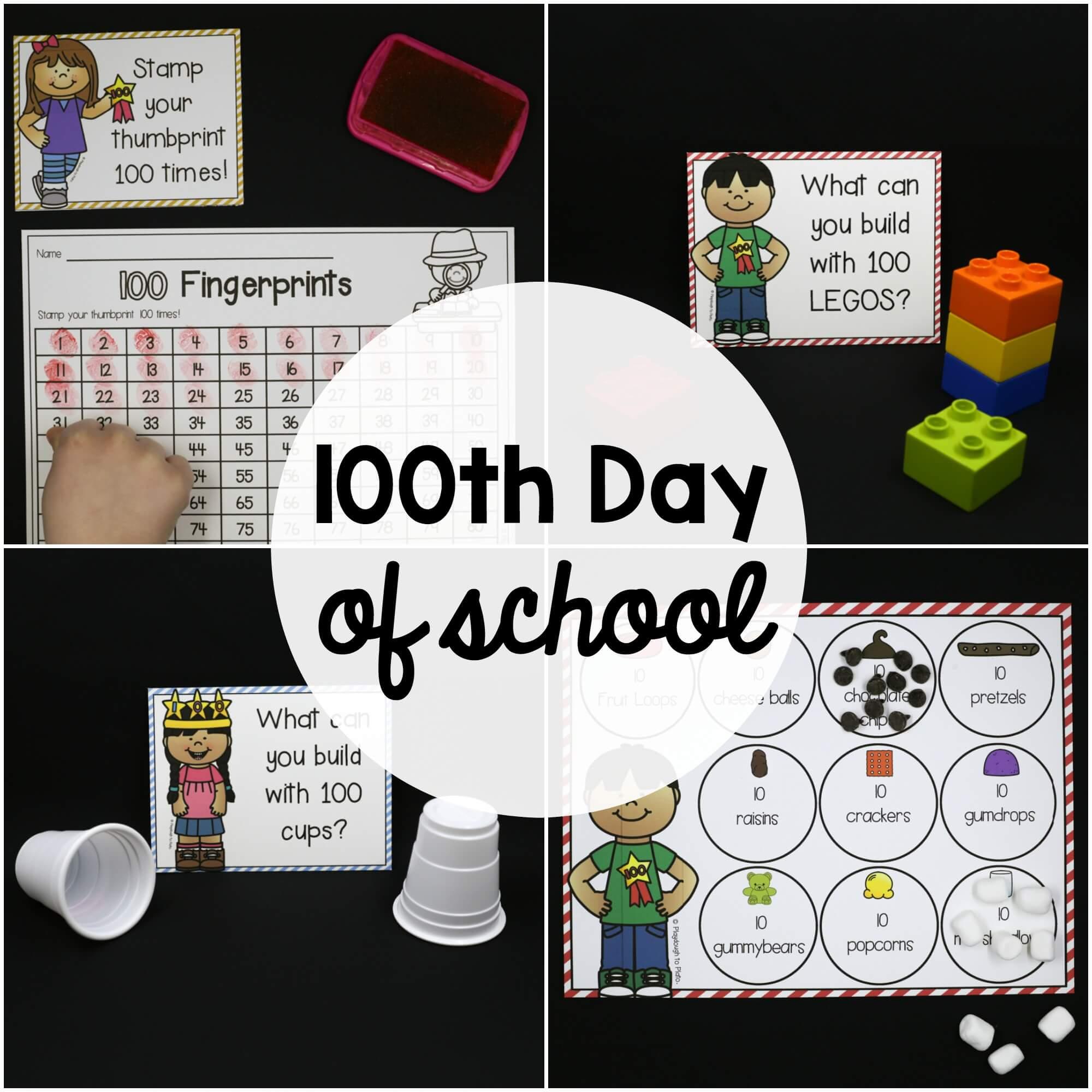 100th Day of School Activities – EDITABLE