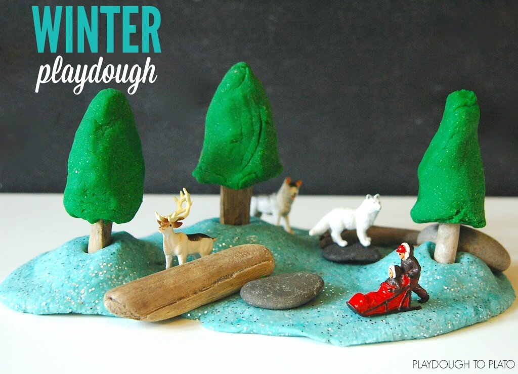Awesome Winter Playdough Recipes. Pine, hot chocolate and mint!