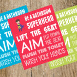 Boys' Bathroom Signs: Be a Bathroom Superhero