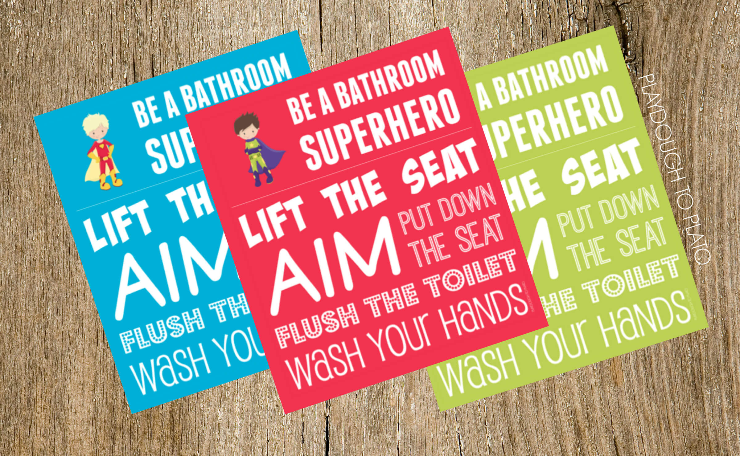 Boys Bathroom Signs Be A Superhero