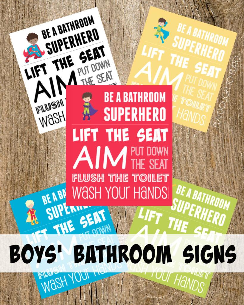 Boys' Bathroom Signs