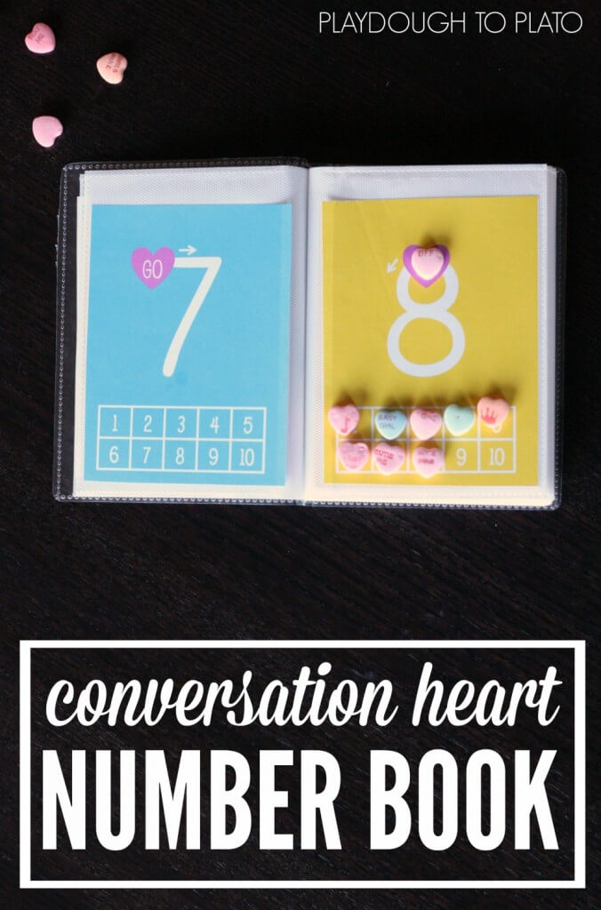 FREE Conversation Heart Number Book!