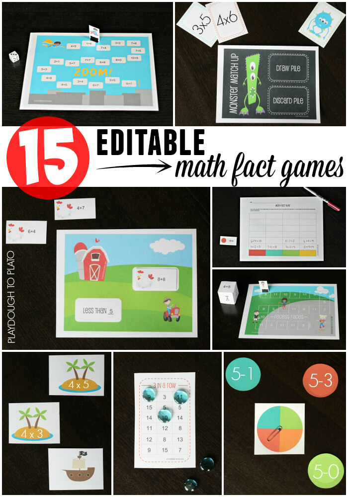Such a HUGE time and money saver!! A game pack that works as multiplication games, addition games... anything!