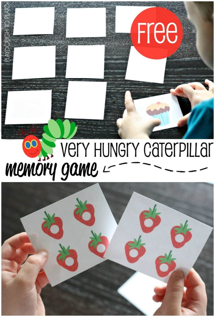 FREE Very Hungry Caterpillar Memory Game for Kids.