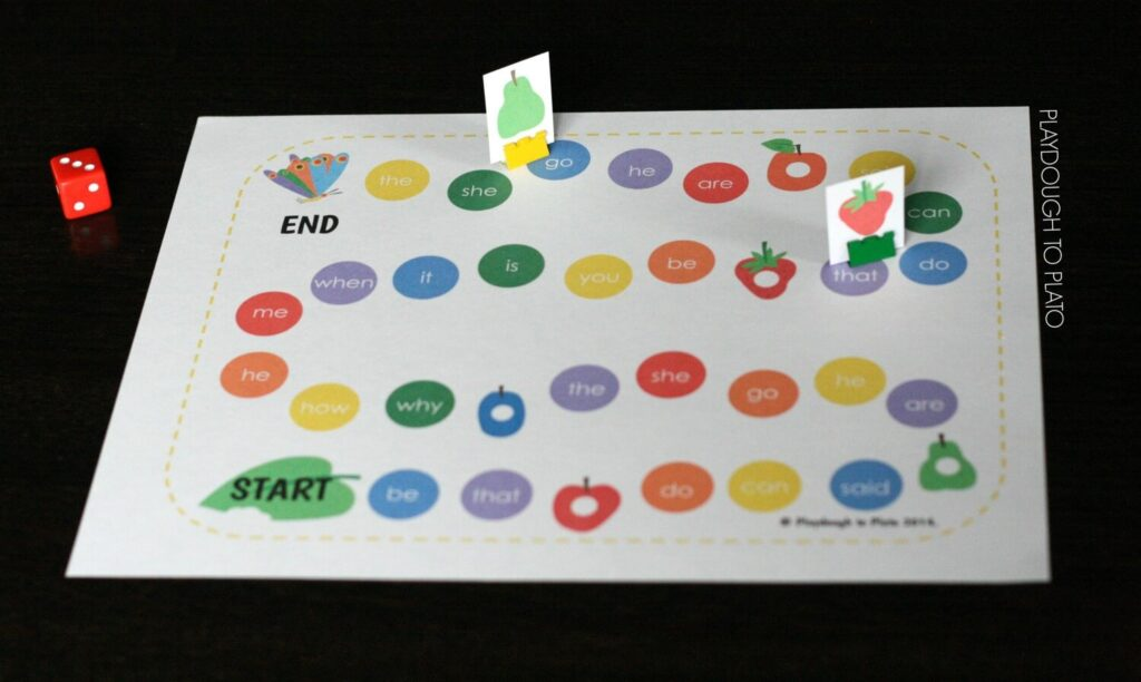 FREE Very Hungry Caterpillar Sight Word Game