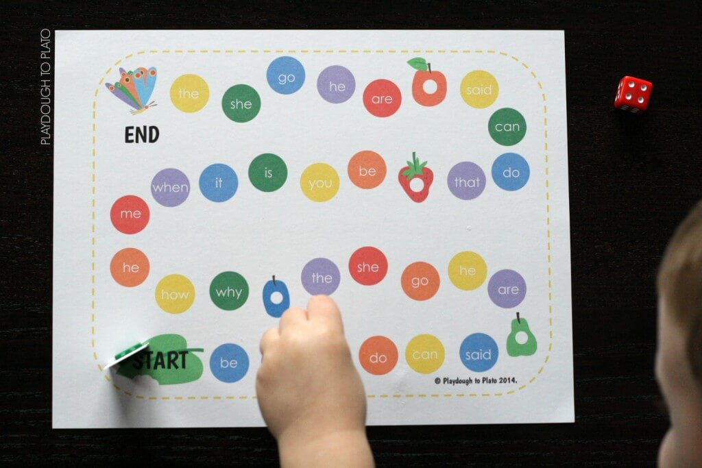 FREE Very Hungry Caterpillar sight word game.