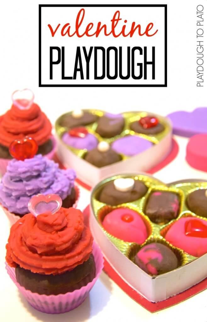Four awesome valentine playdough recipes.