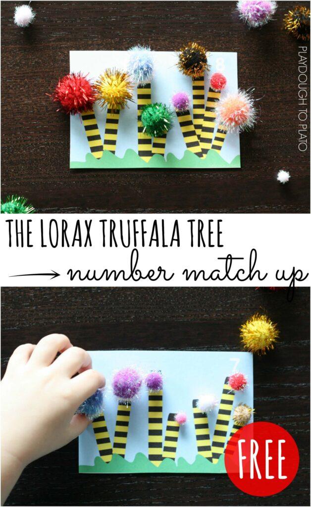 Super fun Lorax truffala tree number match up!!