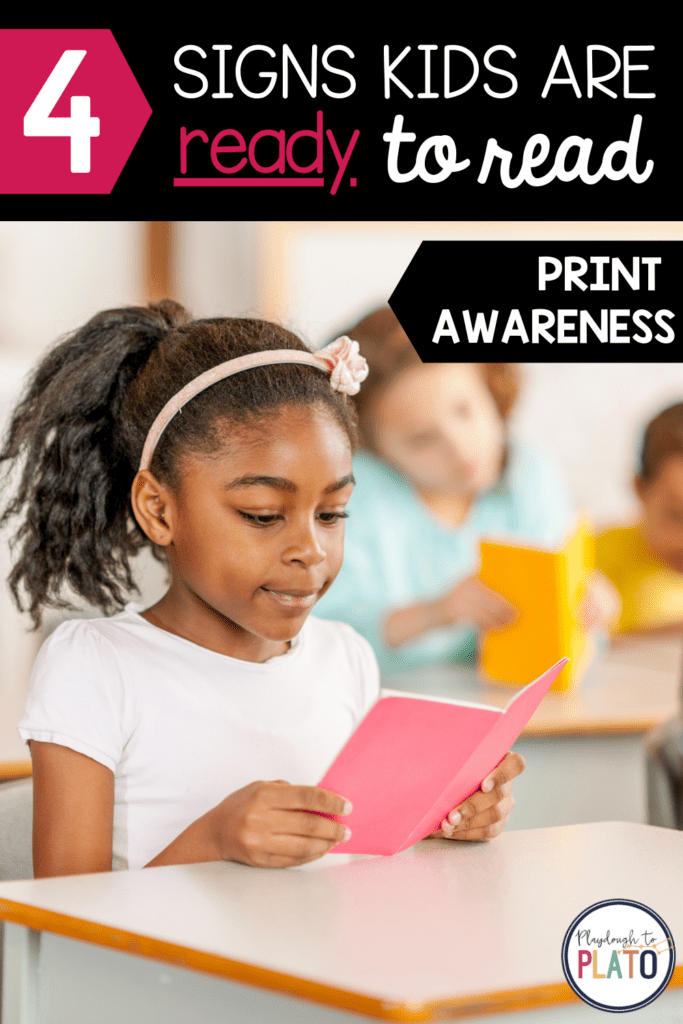 4 Signs Kids are Ready to Read - Print Awareness