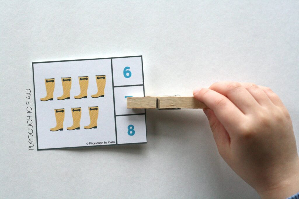 Fun rainy day clip cards. Great for a spring or weather unit.