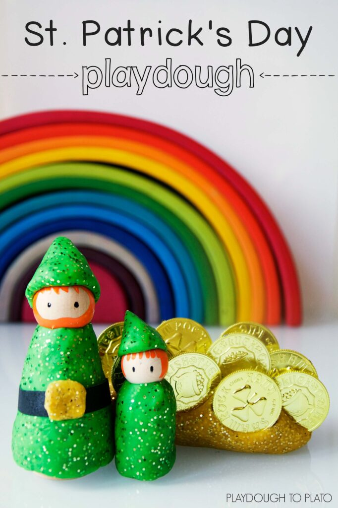 Glittering St. Patrick's Day Playdough