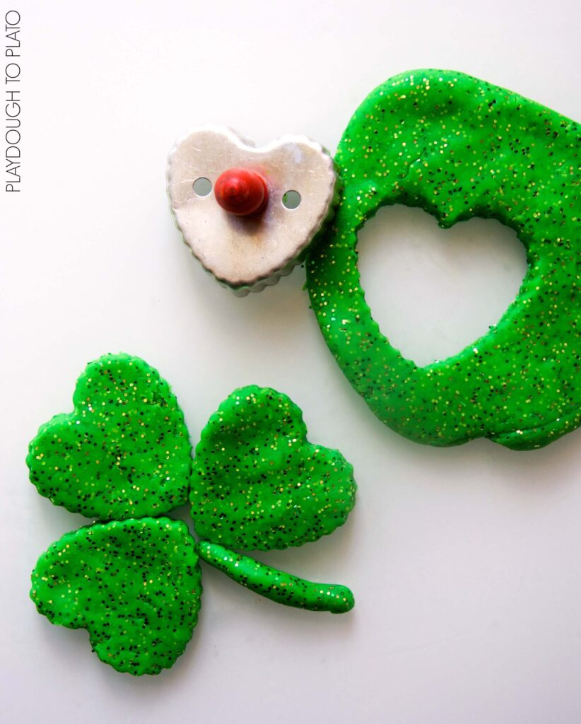 Super glittery St. Patrick's Day playdough
