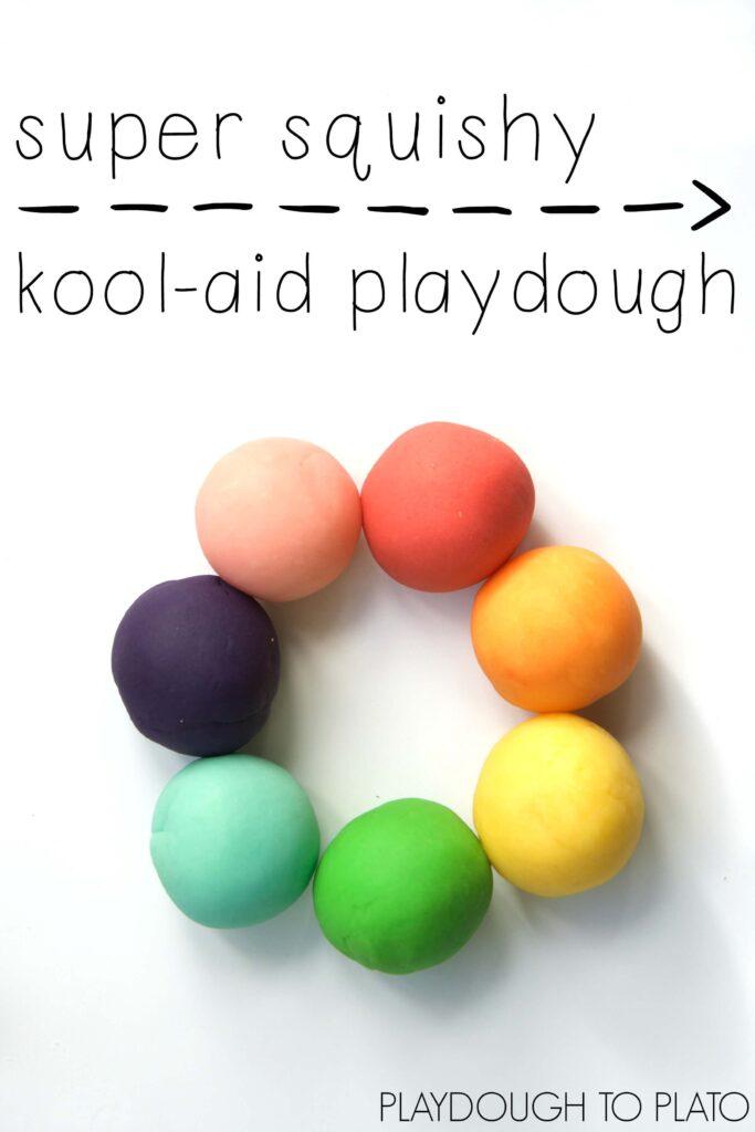 Super squishy kool-aid playdough