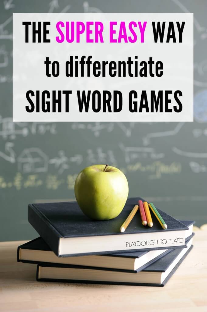 The super easy way to differentiate sight word games. It's so. easy.