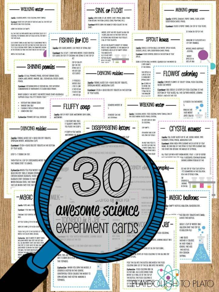 30 awesome science experiment cards