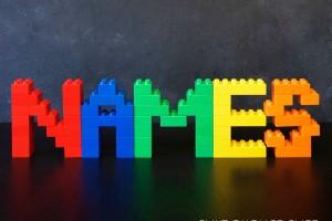 Building LEGO Names