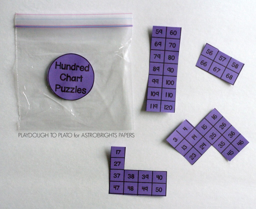 Awesome freebie! Hundred chart puzzles.