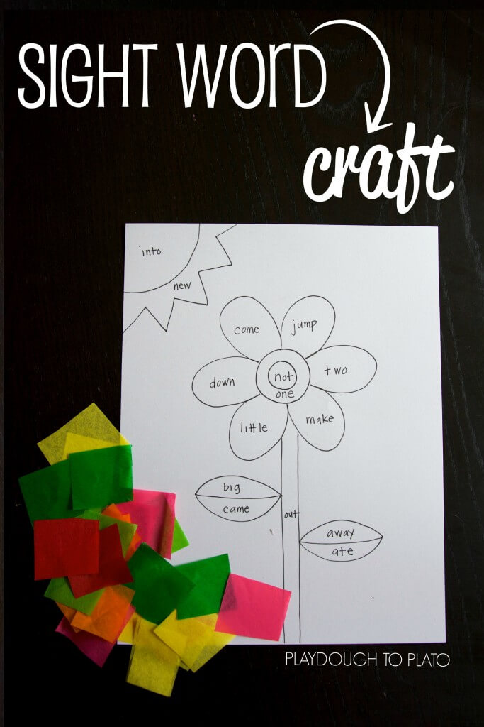 Engaging sight word craft for kids