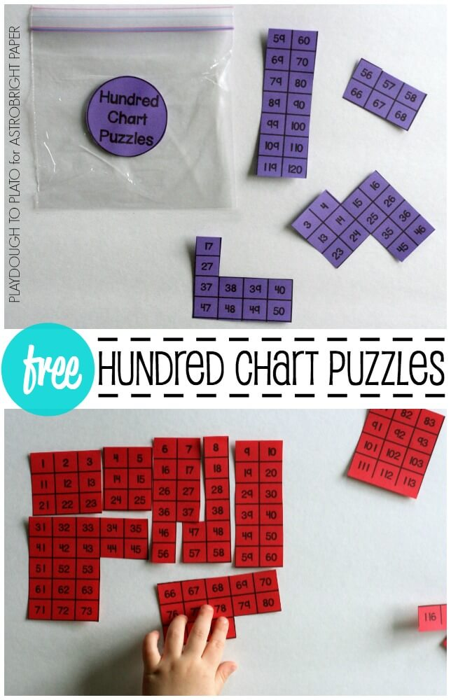 Hundred Chart Puzzles #Colorize