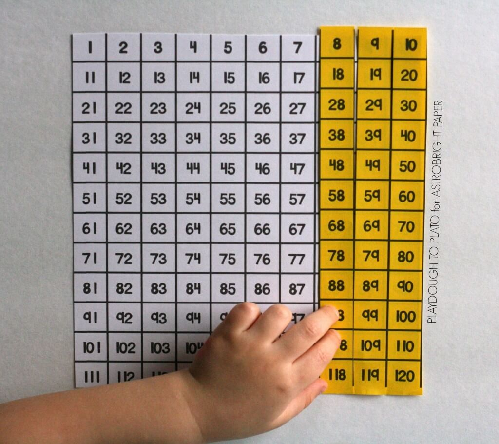Free printable hundred chart puzzles!