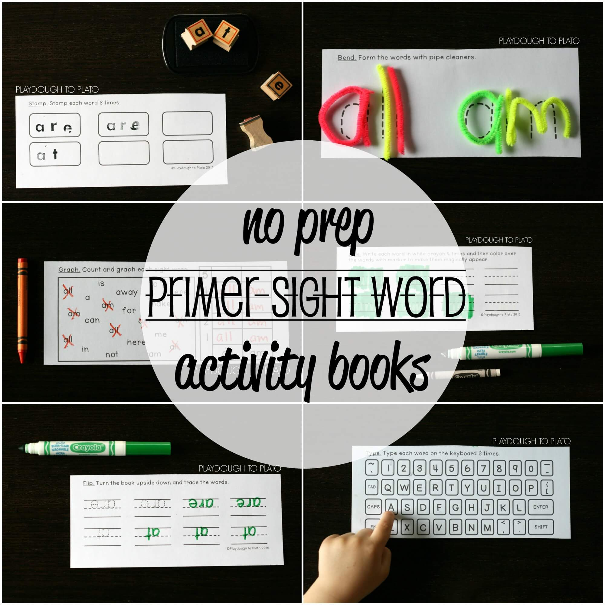 NO PREP Sight Word Activity Books – Set #2