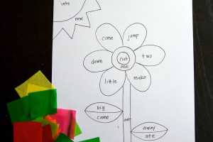 Tissue Paper Sight Word Craft