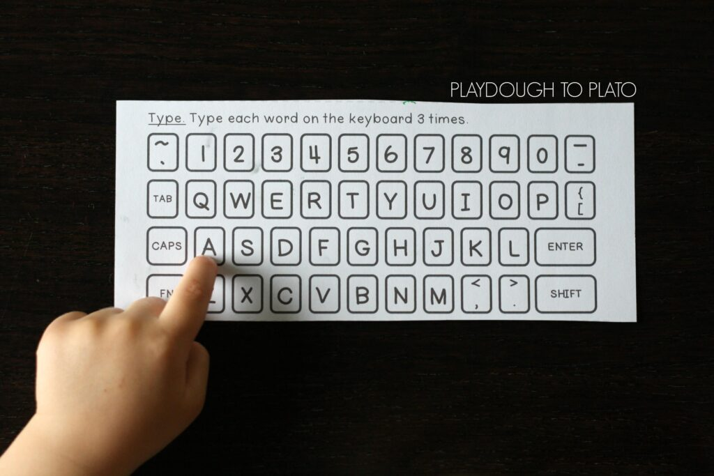 Type them on a keyboard