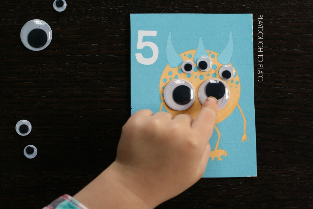 Awesome Monster Counting Cards