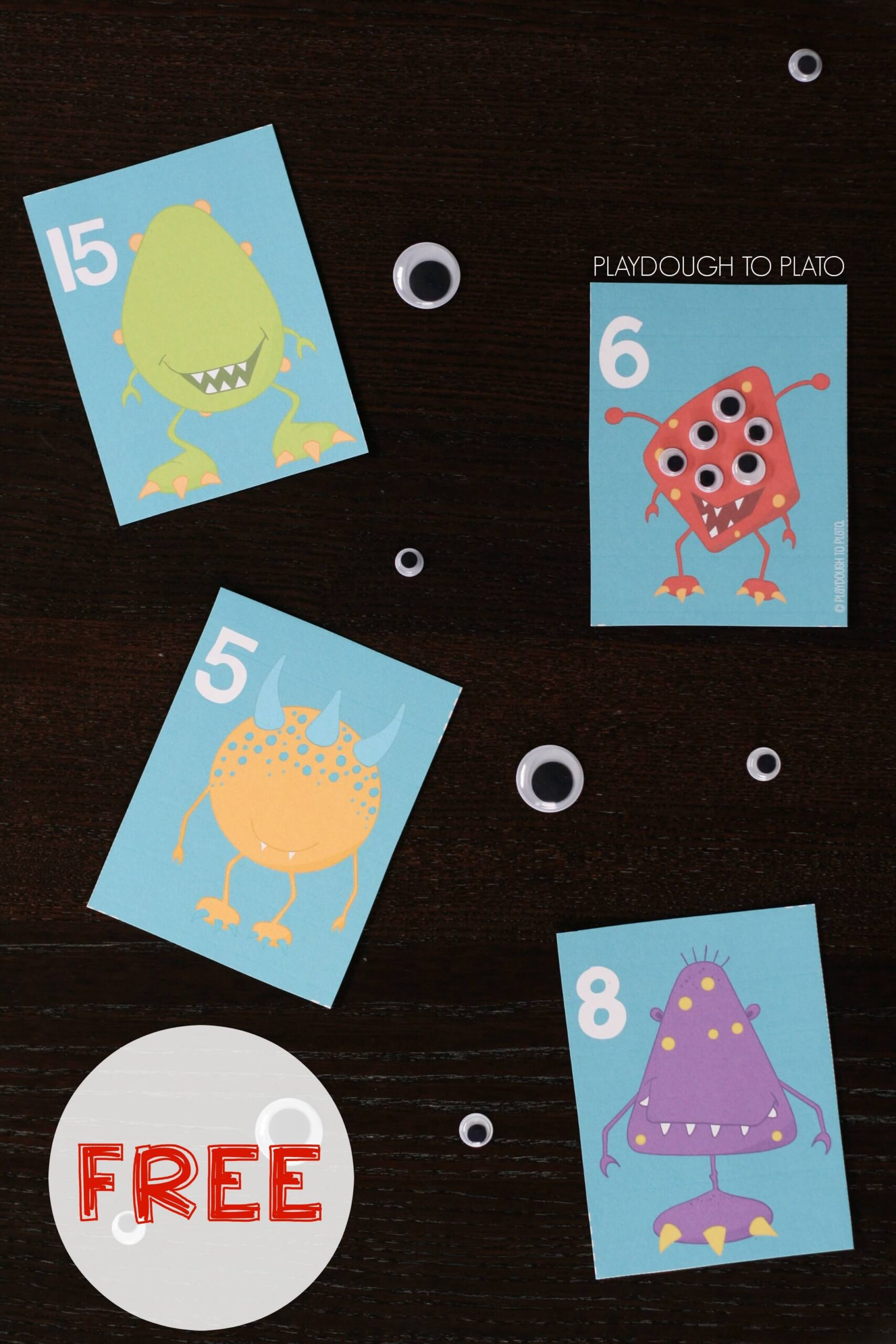 Monster Counting Cards