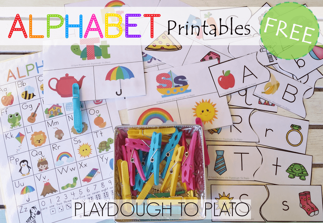 Free Alphabet Printables Playdough To Plato