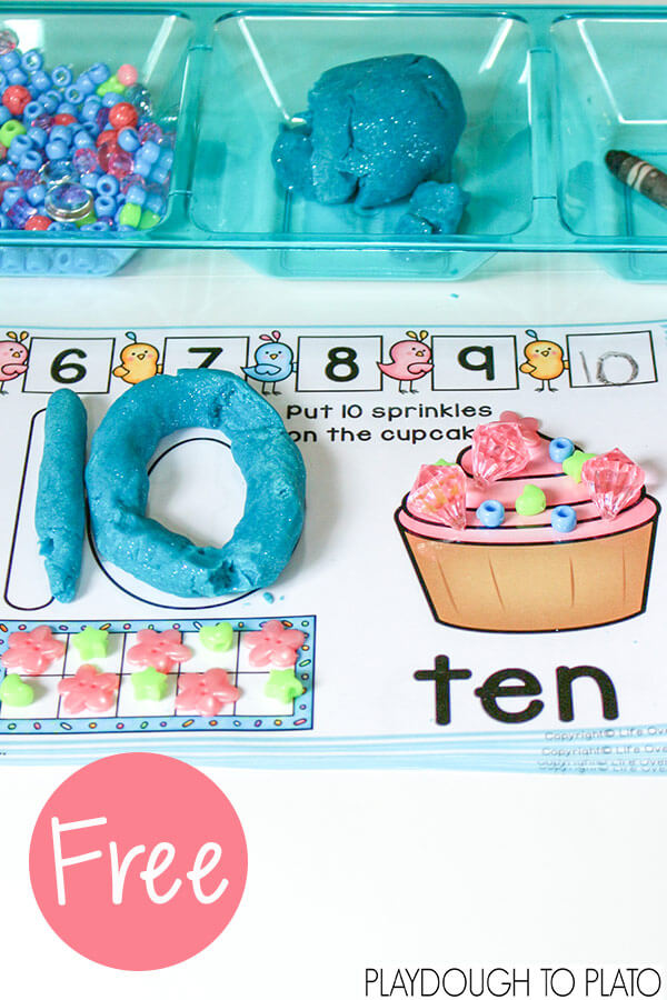Number Playdough Mats