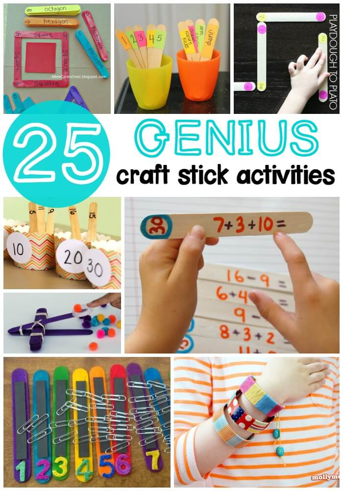 25 Genius Craft Stick Activities