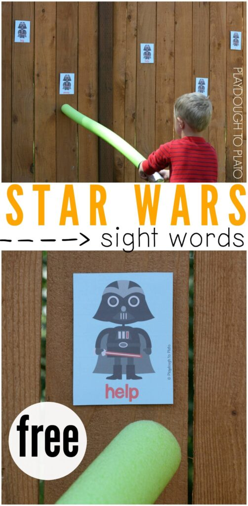 Awesome Star Wars Sight Word Game