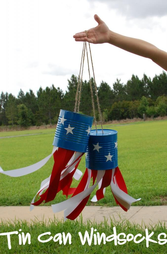 4th of July Tin Can Windsock Craft for Kids