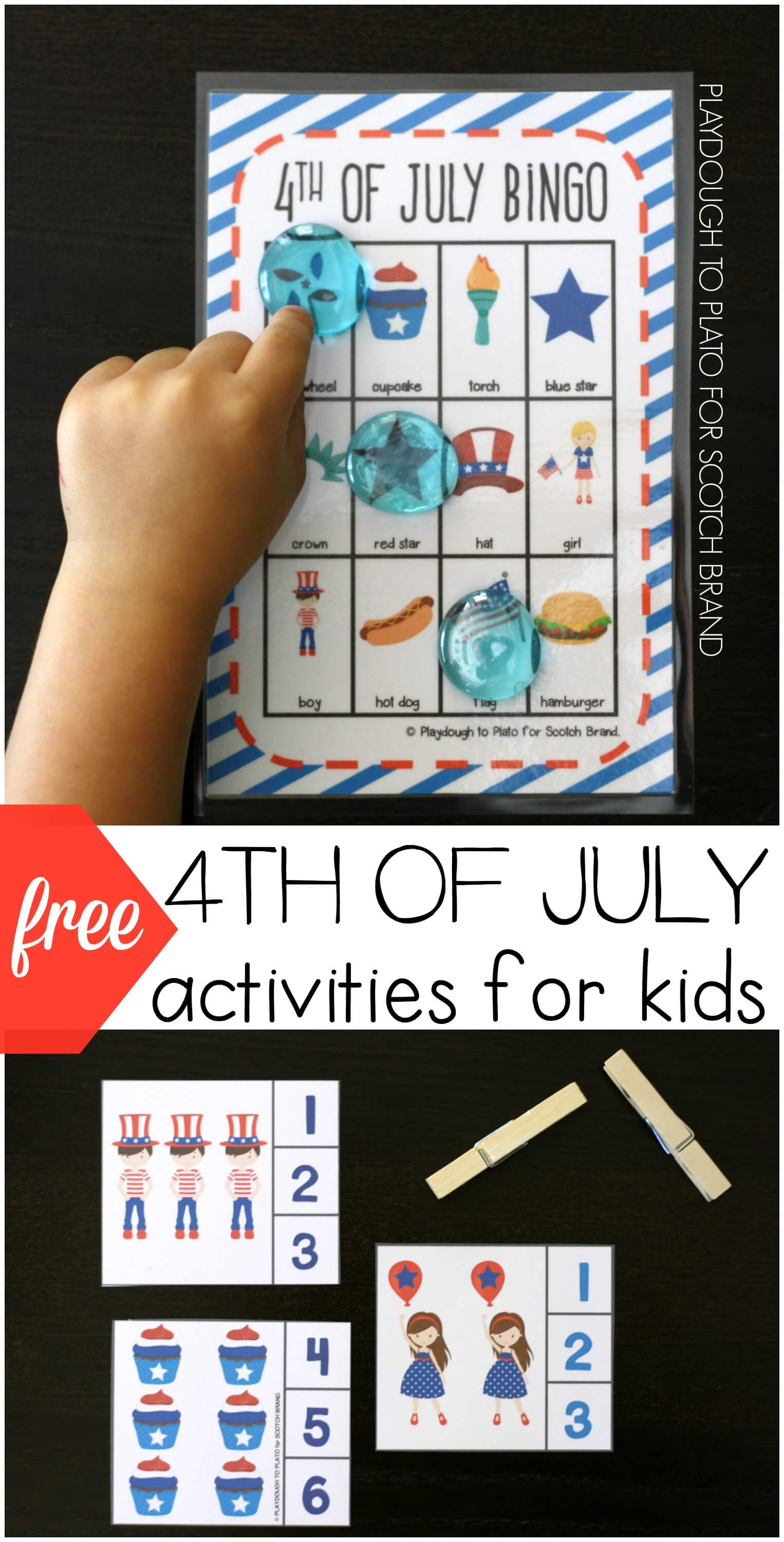 4th of july crafts for kids free 4th of july activities for playdough to plato 7374