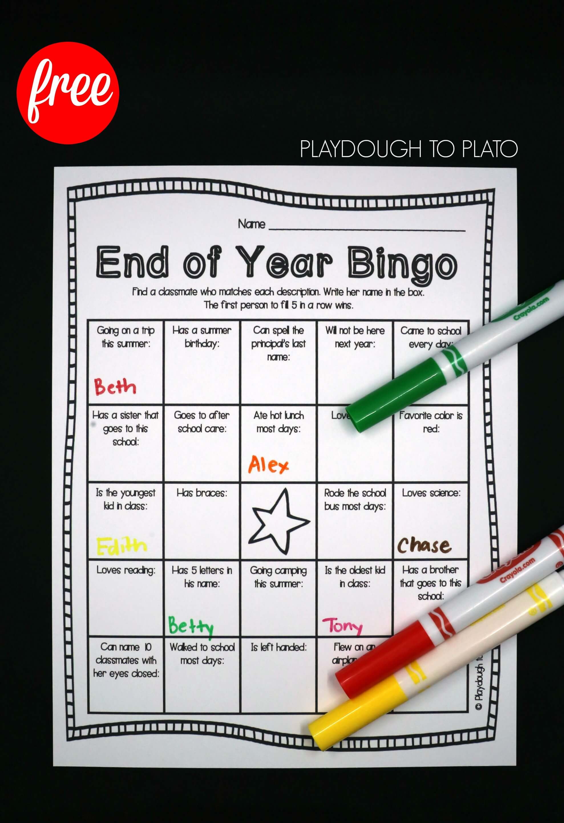 how to play bingo at school