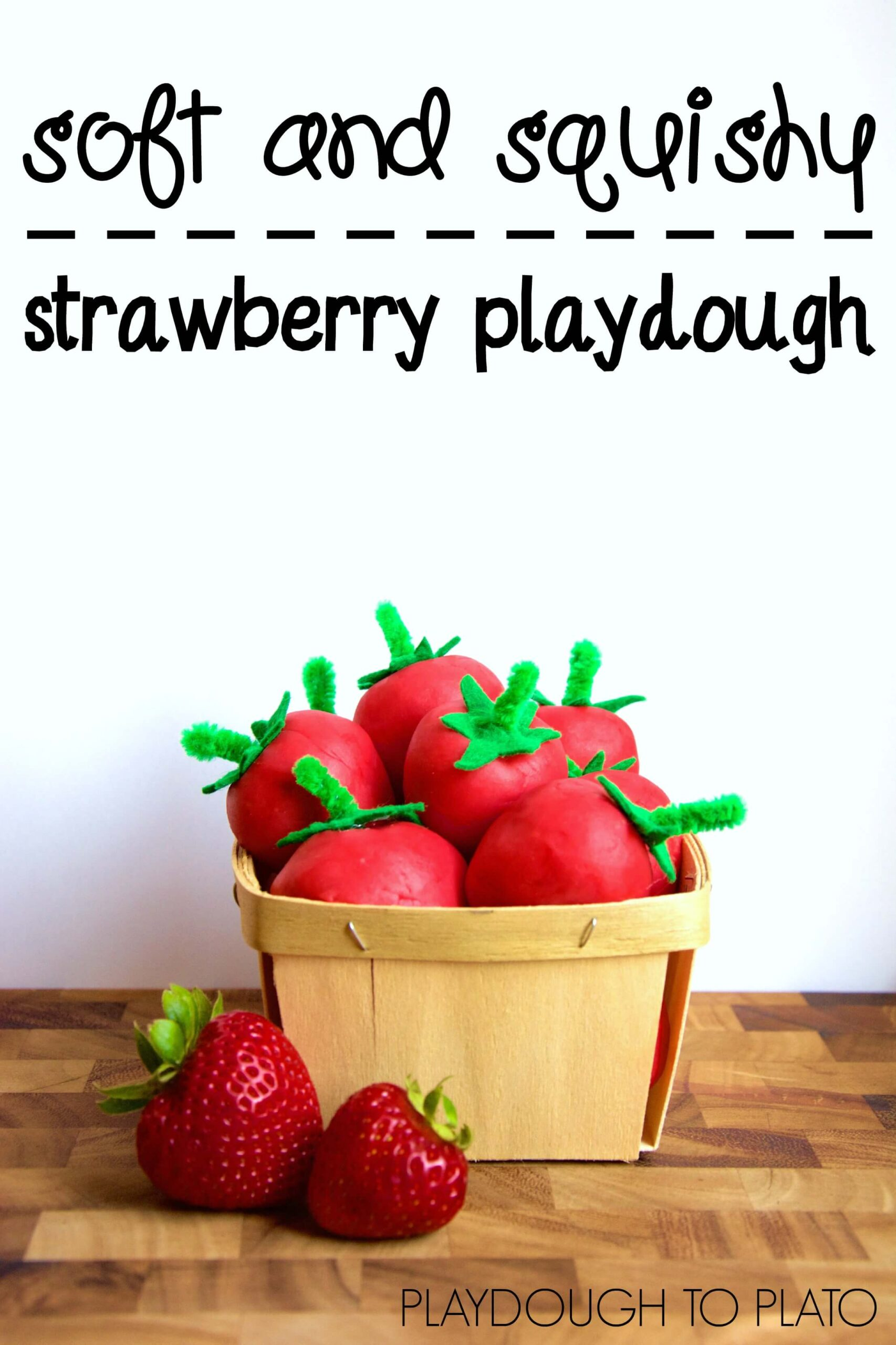 Sun Ripened Strawberry Playdough
