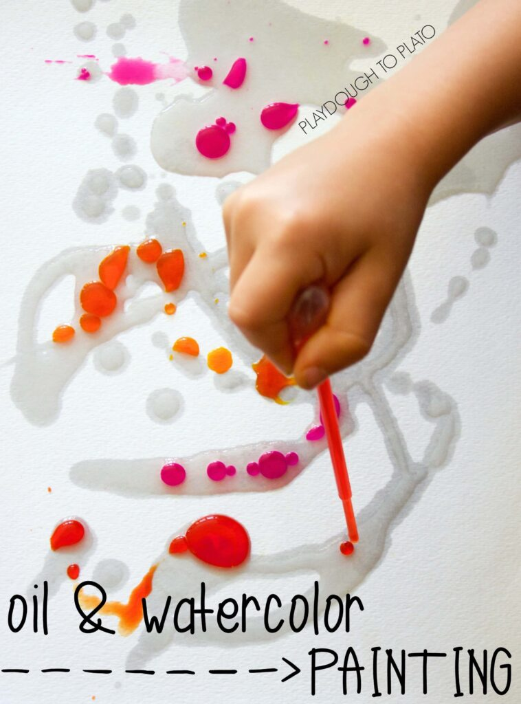 Oil and watercolor painting - art and science in one!