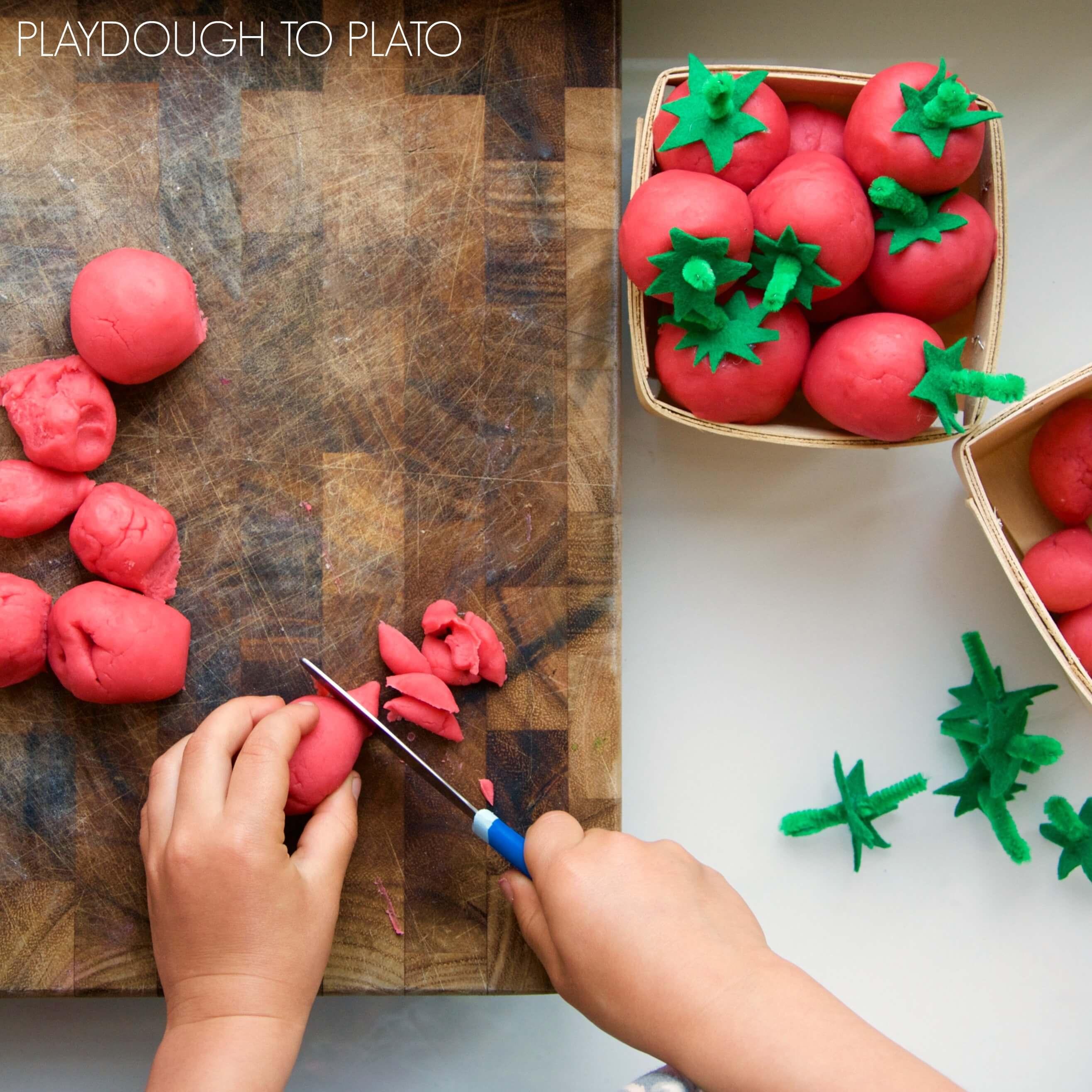 Sun Ripened Strawberry Playdough Playdough To Plato