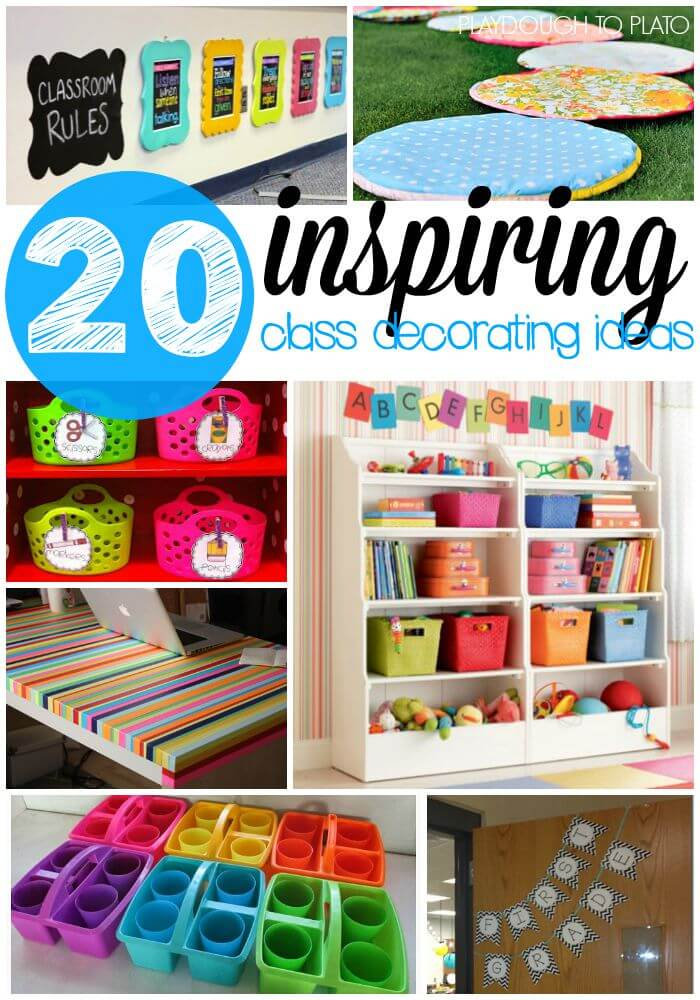Classroom Decor Images ~ Inspiring classroom decoration ideas playdough to plato