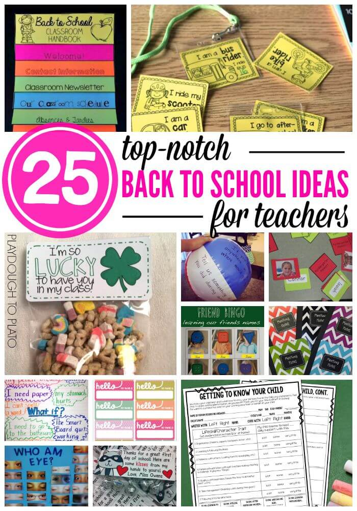 25 Back to School Ideas for Teachers