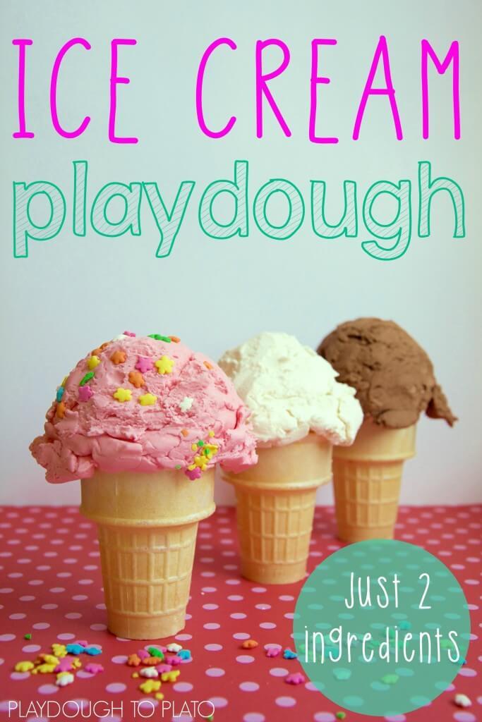 Easy Ice Cream Playdough Recipe