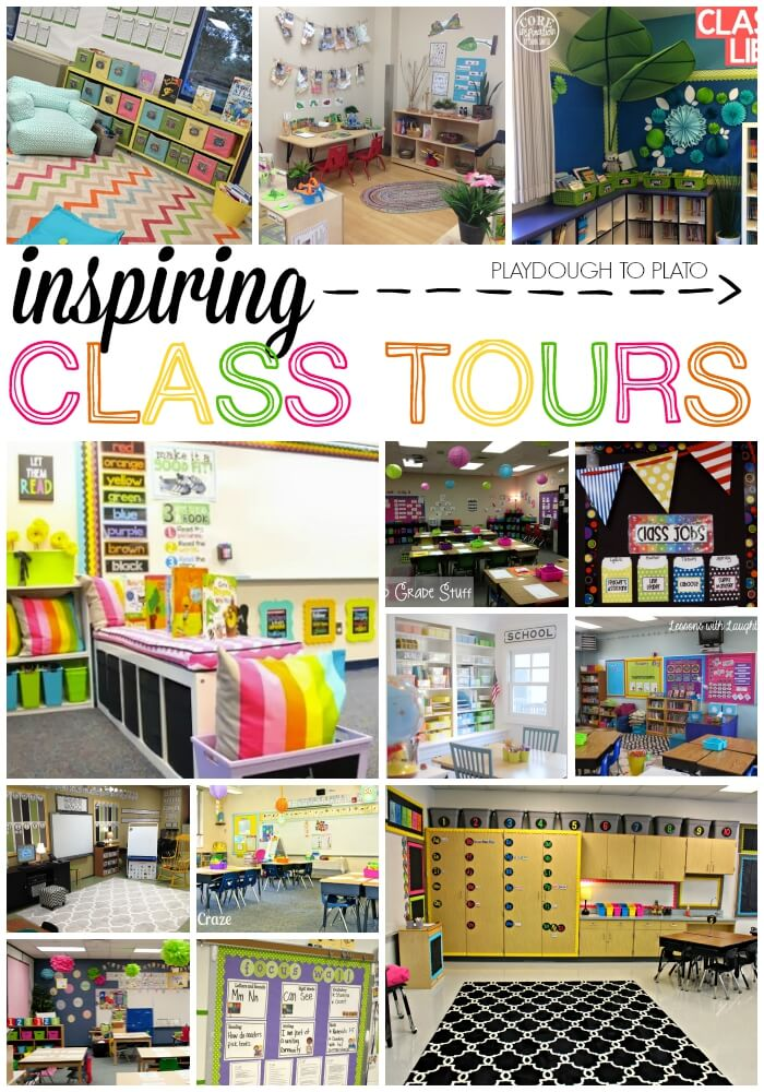 Classroom Setup Ideas ~ Motivating classroom tours playdough to plato
