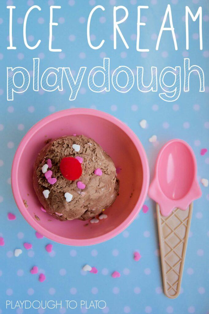 Two Ingredient Ice Cream Playdough