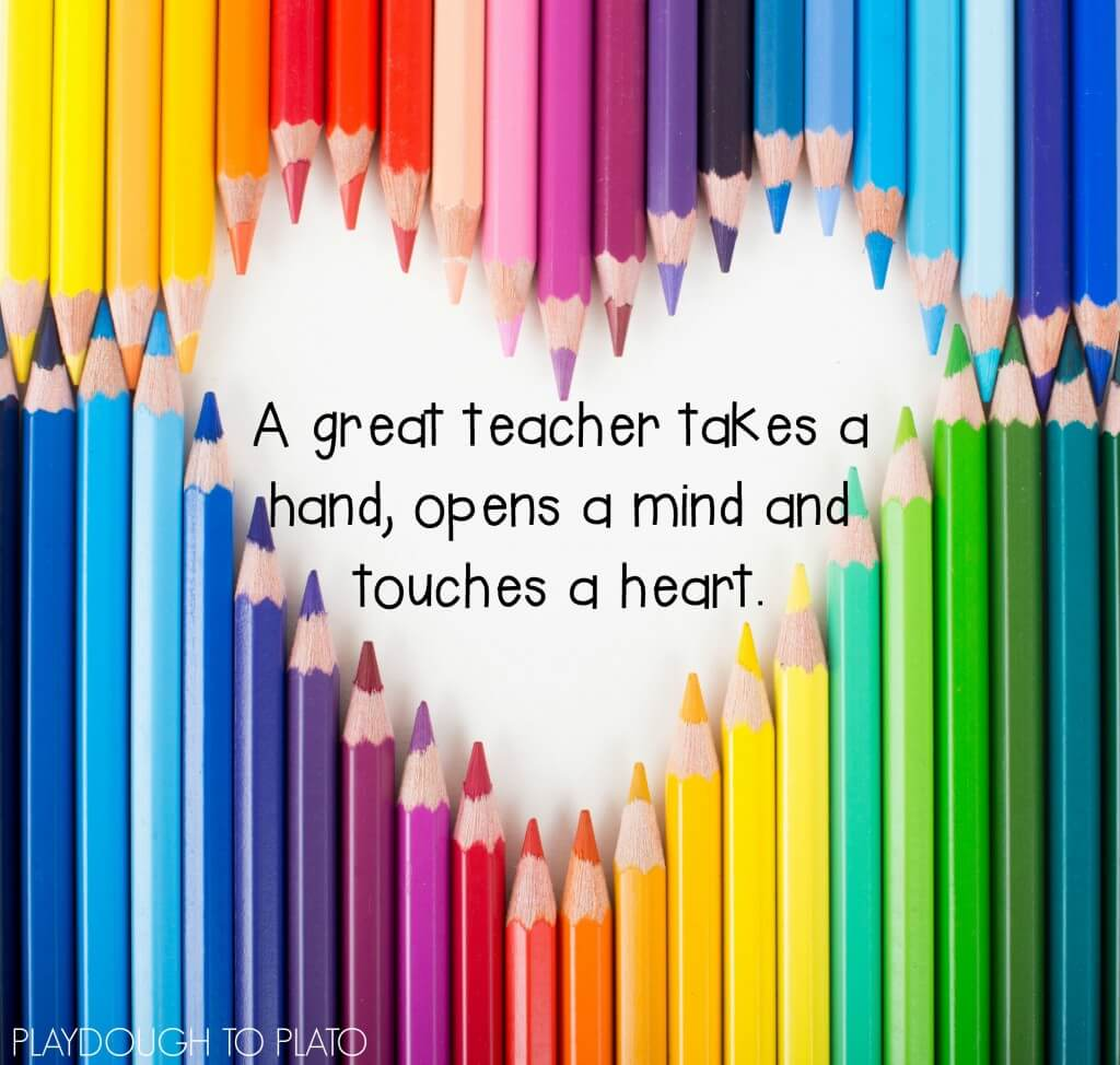 A great teacher takes a hand...