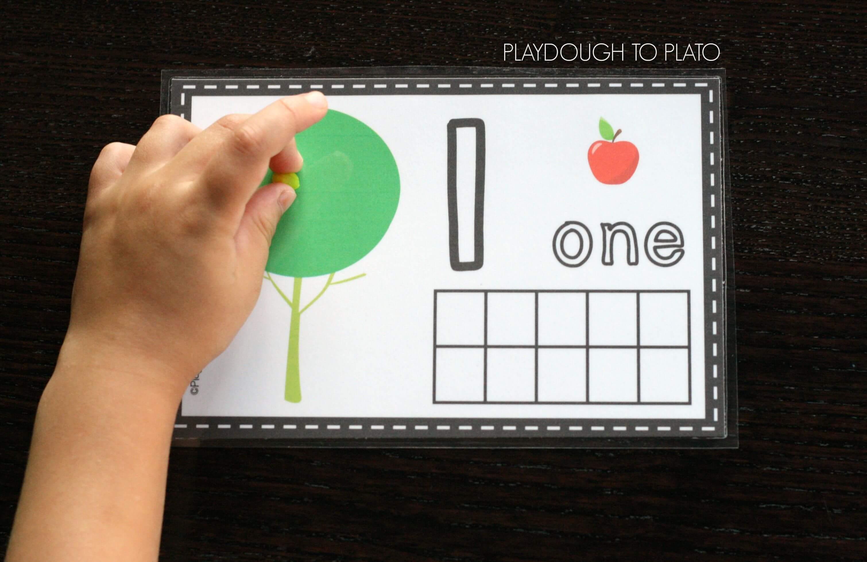Free Apple Playdough Mats Playdough To Plato