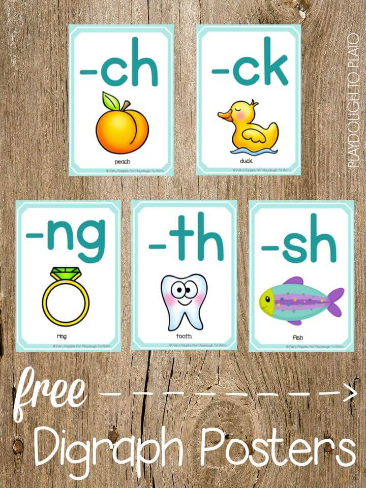 FREE Digraph Posters and Dice. Such a fun way to help kids remember trick digraphs.