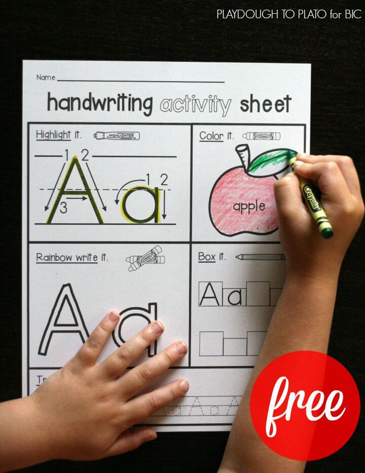 Free Handwriting Activity Sheets. One for all 26 letters!!